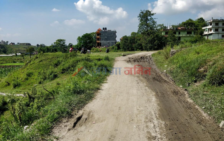 Road access of 13 Anna Land Sale at Tarkeshwor, Sangla