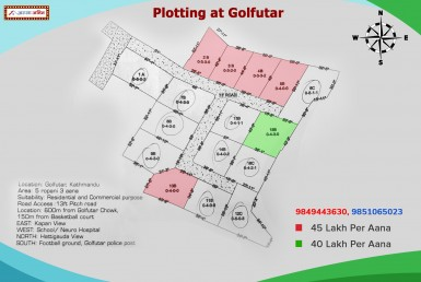plotted land at golfutar