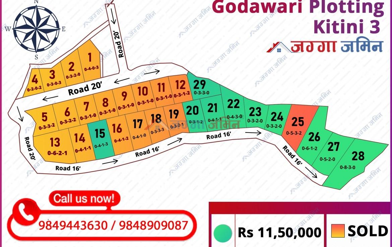 plotted land godawari kitni