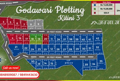 trace map of plotting in godawari kitini